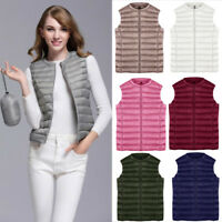 Women's Down Coat Vest Blouse Outerwear Sleeveless Jacket Puffer Overcoat Vests