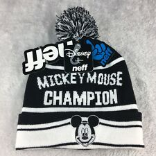 NEFF Beanie Mickey Mouse Champion Hat Knit Disney Collection Winter One Size