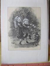 Vintage Print,CHILDREN+ROSES,Aldine Mag,1873