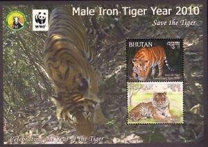 Bhutan 2010 MNH SS, Save Tiger, Catlike Wild Animals, WWF