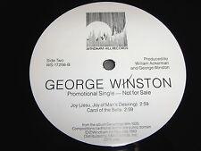 "GEORGE WINSTON Thanksgiving/Joy/Carol of the Bells 12"" single VINYL PROMO record"