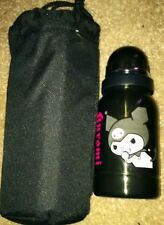 Extremely RARE Sanrio Kuromi 12oz Stainless Steel Water Bottle with Carry Pouch