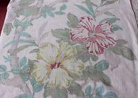 "Lovely Sun Faded Genuine Vintage American Tropical Barkcloth c1940~48""LX34""W"