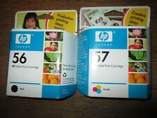 Combo! New Genuine HP 56 Black & 57 Tri-Color Ink Cartridges Sealed HP Bags