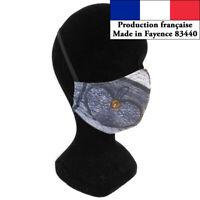 Masque protection Coeur design à la mode réutilisable barrière AFNOR