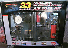 New Rockford Commercial Products 33 Piece Combo/ Die Grinder/ Cut Off Air Kit
