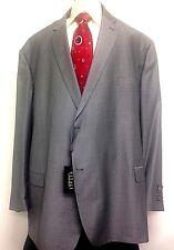 Vitali Big Men Suit Houndstooth Classic Business Slacks 2PC Jacket Tall 72L Gray