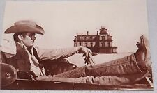 Postcard James Dean Sitting In Buggy Movie Giant  Sepia Tone  Unposted New