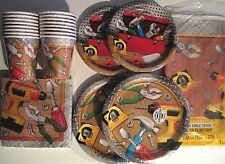 HANDYMAN Birthday Party Supply Pack SUPER KIT w/ Desert and Dinner Plates