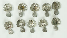 SET OF TEN VINTAGE CLIP-ON METAL CHRISTMAS CANDLE HOLDERS