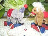 Vintage Republican and Democratic Political Mascots Donkey and Elephant
