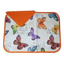 SET COLAZIONE tovaglia cotone + 1 tovagliolo farfalle arancio 2 pezzi nel set