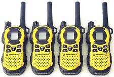 USED 4 Motorola MT350AA Walkie Talkie FRS GMRS 2Way Radios Weather VibraCall Bag