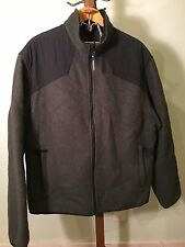 Men's Woolrich Technowool Full Zip Jacket Xl Olive Green VGUC!