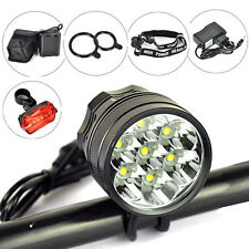 10000Lm 7X XM-L T6 LED Front Bicycle light Bike Lamp Headlamp + 12000mAh Battery