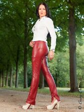 Lederhose Leder Hose Knalleng Dunkelrot Maßanfertigung