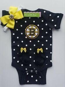 Baby girl Bruins Boston Bruins baby/infant clothes girl Boston Bruins baby gift
