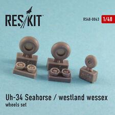 Reskit - 48-0043 - UH-34 Seahorse / Westland Wessex (wheels set) - 1:48  **NEW**