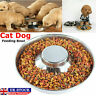 Puppy Dog Pet Cat Litter Food Feeding Weaning Stainless Steel Feeder Bowl Dish