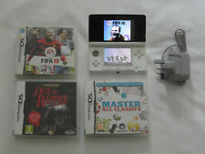 Nintendo 3DS Ice White Console Bundle FREE UK DELIVERY