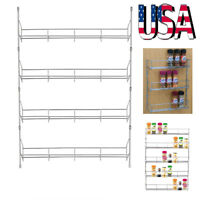 4-6 Tiers Kitchen Spice Rack Organizer Storage Shelf Pantry Wall Hanging Holder
