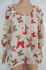 Butterfly Floral Regular Size Tops for Women