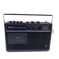 Needs Repair Vintage Sankyo STR-235 Radio AM/FM Cassette Player Recorder Black