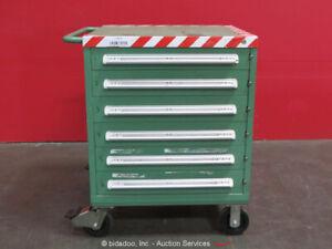 Stanley Vidmar 6-Drawer Tool Cabinet Shop Equipment Storage Box Rollaway bidadoo