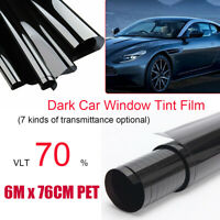 Window Tint Film Black Roll 70% VLT Car Home House 760cm X 6m Tinting tools AU