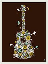 DAVE MATTHEWS BAND FLOWER GUITAR 2008 POSTER ART PRINT RARE!!!