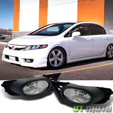 For 2009-2011 Honda Civic 4-Door Sedan Bumper Fog Lights Driving Lamps w/Switch