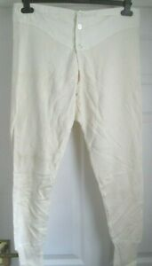 MENS VINTAGE TRADITIONAL HIGH CROSS LONG JOHNS WITH BUTTON WAIST & BRACES TAPES