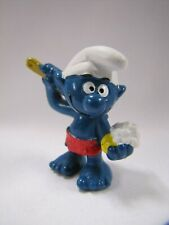Vintage Smurf Figurine with Soap and Brush 1978