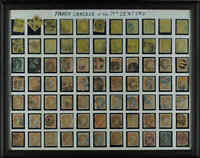 Canada #15/77 used 1859/1899 Fancy Cancels of the 19th Century x77 stamps Framed