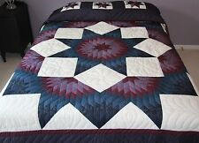 New Amish Quilt Patchwork, Lancaster Pa. Mariners Broken Star 101x114 Handmade