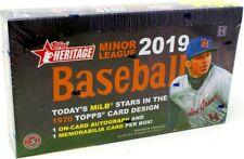 2019 TOPPS HERITAGE MINOR LEAGUE BASEBALL HOBBY BOX BLOWOUT CARDS