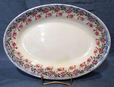 Spongeware, Ironstone, Small Platter, Black English