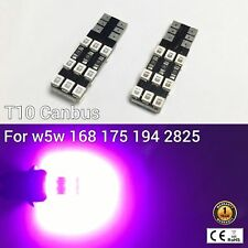 T10 W5W 194 168 2825 License Plate Light Purple 18 Canbus LED M1 For Chevrolet