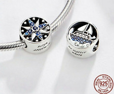 New 925 Sterling Silver Travel Charm Dream Star Beads Ship for a Charm Bracelet