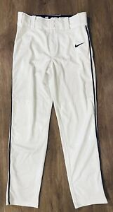 Nike Dri Fit BOYS Youth Baseball Pants White PERFECT Condition Size XL