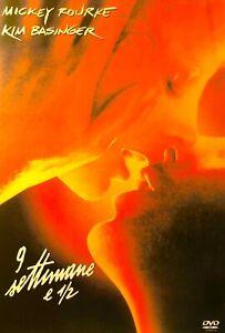 104??sealed-9 ½ 9 1/2 Weeks Mickey Rourke, Kim Basinger R2 DVD