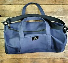 American Giant Navy Blue Duffel Gym Bag Cotton Duck Canvas Lined Heavy Duty 20""