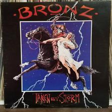 Bronz Taken By Storm Rock LP Island Records 90166-1 Gold Promo Stamp 1984 Origin