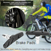 1Pair Braking V-Brake Blocks MTB Cycle Bike Bicycle MTB Blocks Pads Holder Shoes