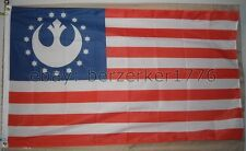 Star Wars Rebel Alliance Stars & Stripes USA 3' x 5' Flag Banner - USA Seller