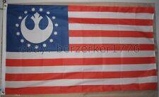 Star Wars Rebel Alliance Stars & Stripes USA 3' x 5' Flag Banner - USA Seller