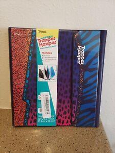 Trapper Keeper Vintage Retro Portfolio Binder Animal Leopard Print NEW Mead 90's