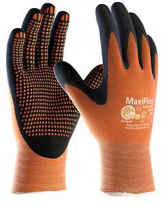 12 x Pair ATG MaxiFlex Endurance Nitrile Work Gripper Gloves Micro Dot (42-848)