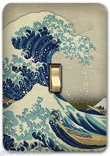 Japanese Hokusai Ocean Wave Metal Single Light Switch Plate Cover Home Decor 307