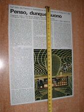 AUTORADIO PHILIPS A.C. 930  - Ritaglio da vecchia rivista del 1984